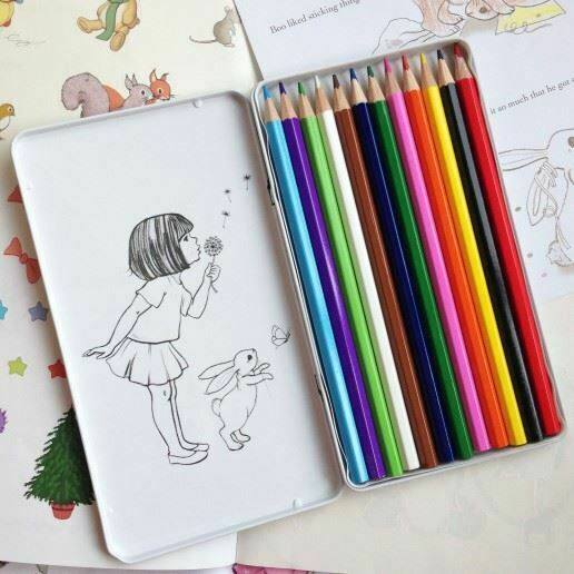 Belle and Boo Colouring Pencils in tin at Little Sprout