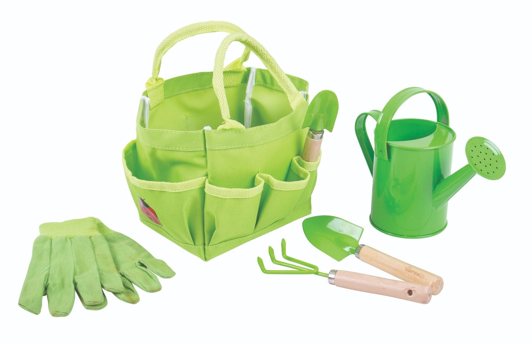 Bigjigs Small Tote Gardening Bag and Tools