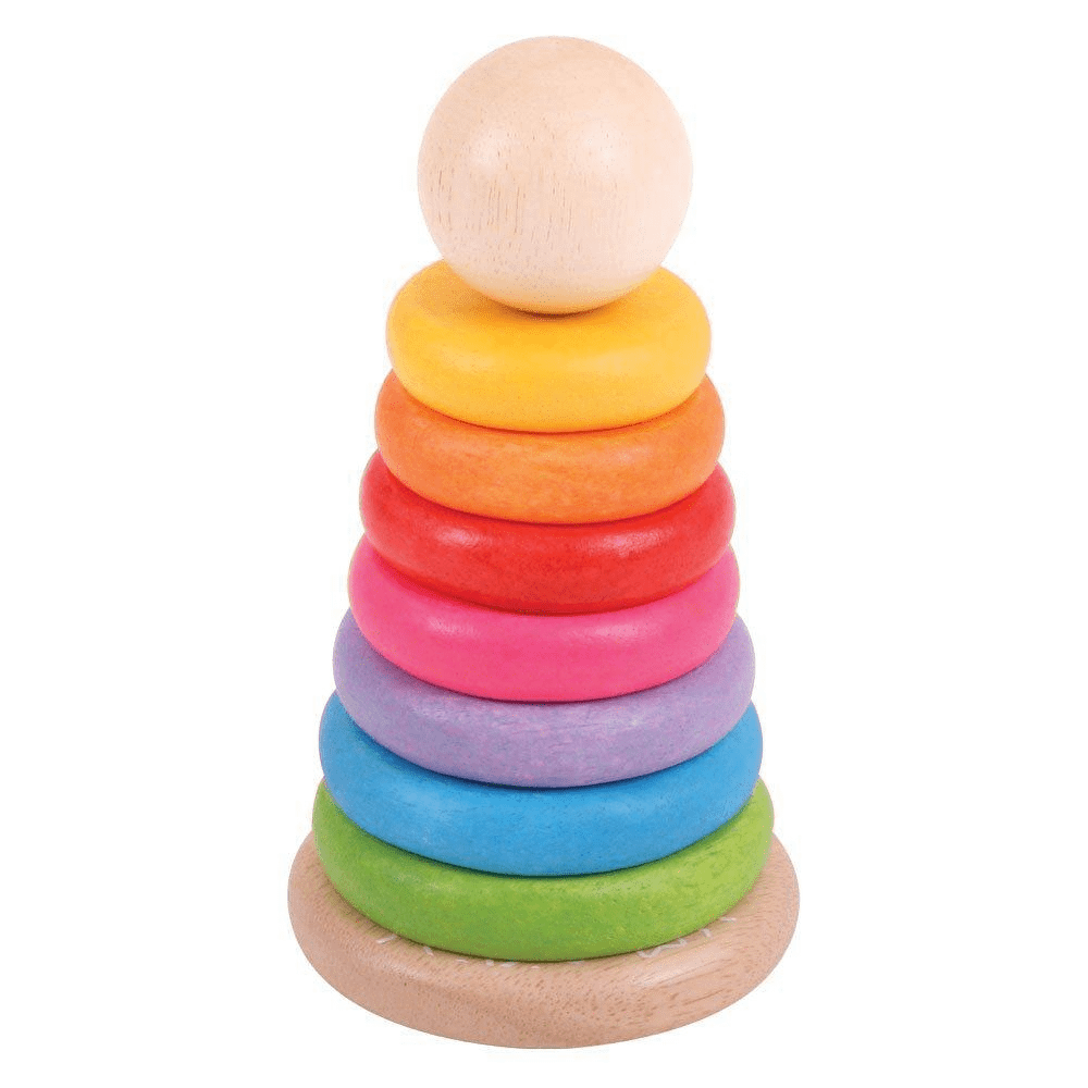 Bigjigs Wooden Baby Rainbow Stacker