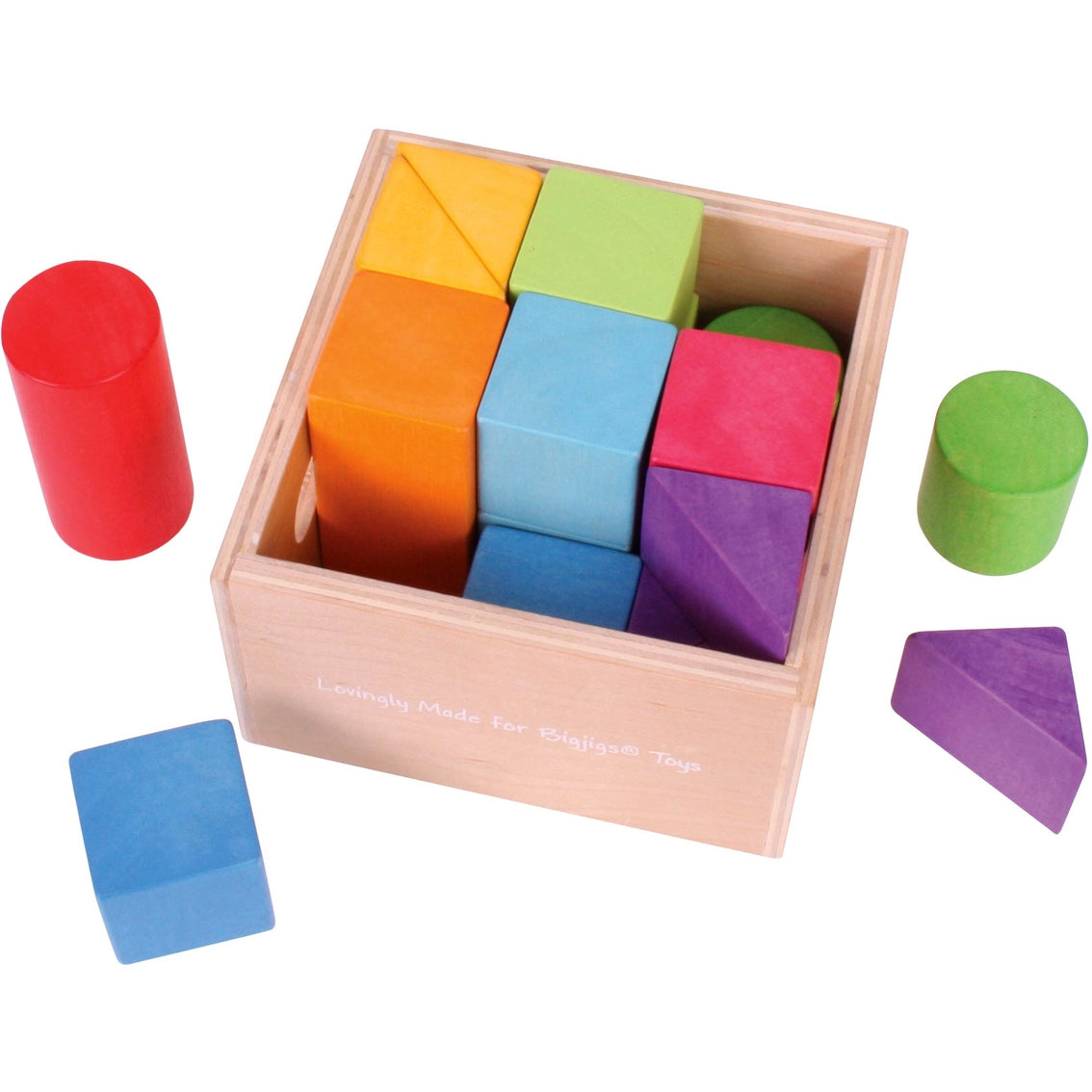 Bigjigs Wooden Building Blocks 17 pieces