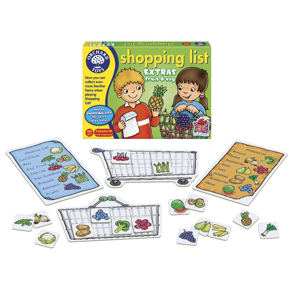 Orchard Toys - Shopping List Booster Fruit And Veg