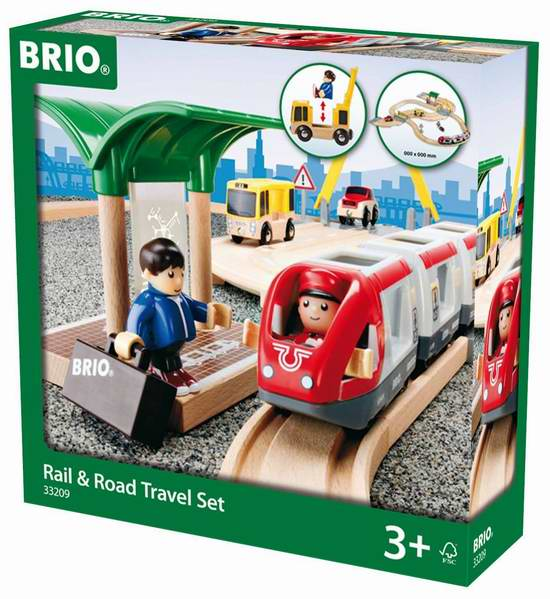 Brio 33209 Rail and Road Set at Little Sprout