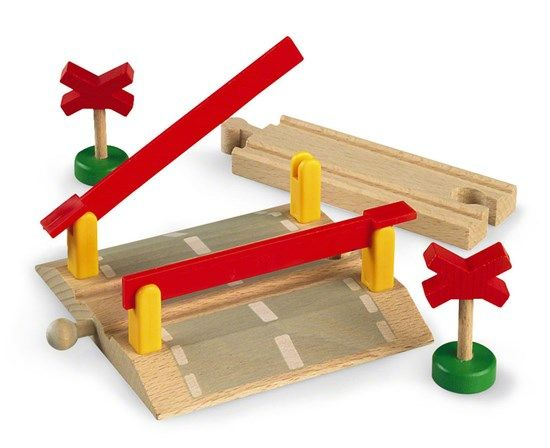 Brio wooden railway crossing set at Little Sprout