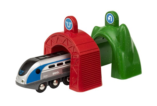 Brio 33834 Smart Engine with Action Tunnels in box at Little Sprout