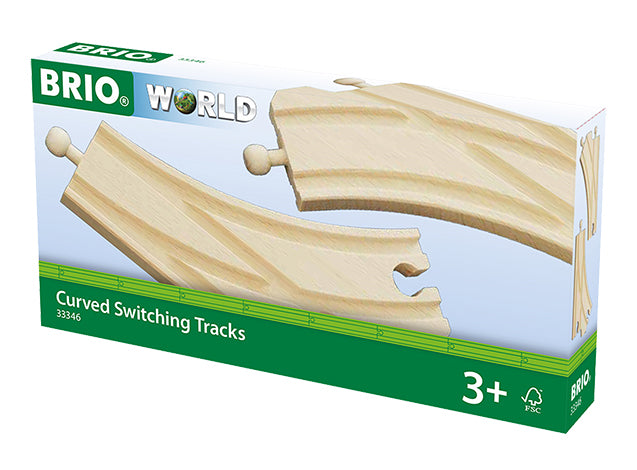 Brio 33346 Curved Switching Tracks 2 piece
