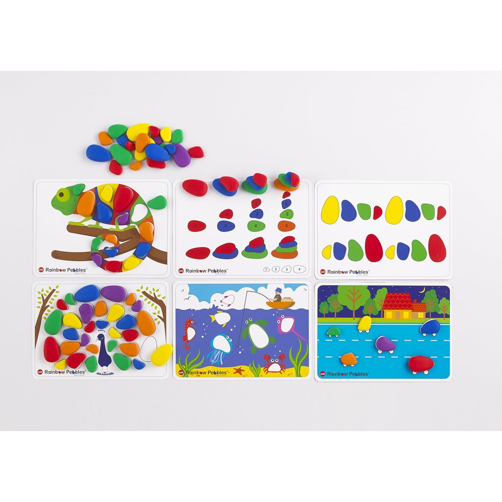 Rainbow Pebbles Activity Set in box