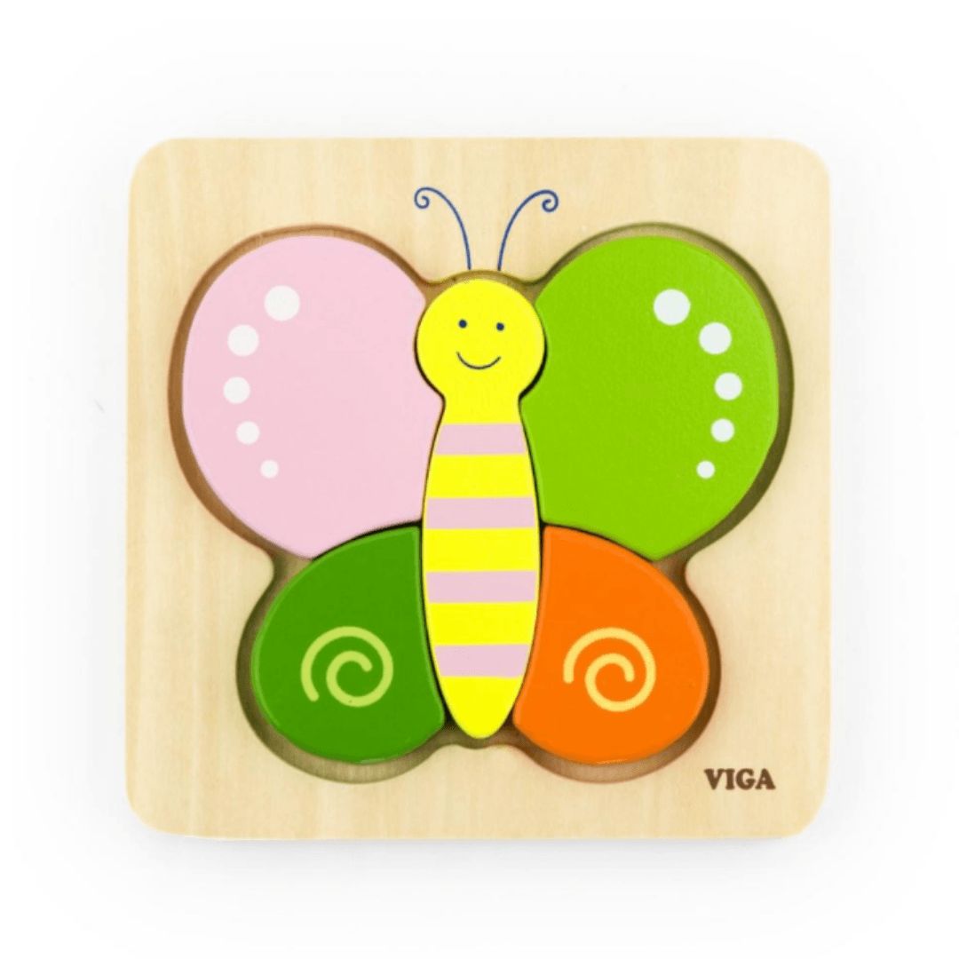 Viga Wooden Mini Puzzle Butterfly