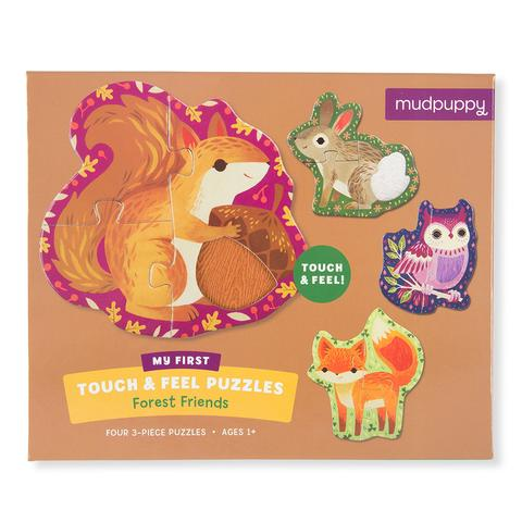 Mudpuppy - Forest Friends Touch And Feel Puzzle