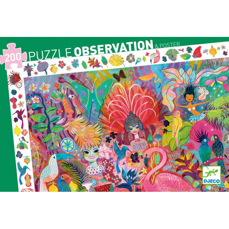 Djeco 200 piece Observation Puzzle Carnaval box