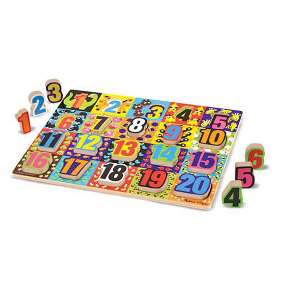 Melissa And Doug - Jumbo Chunky Puzzle Numbers 20pc