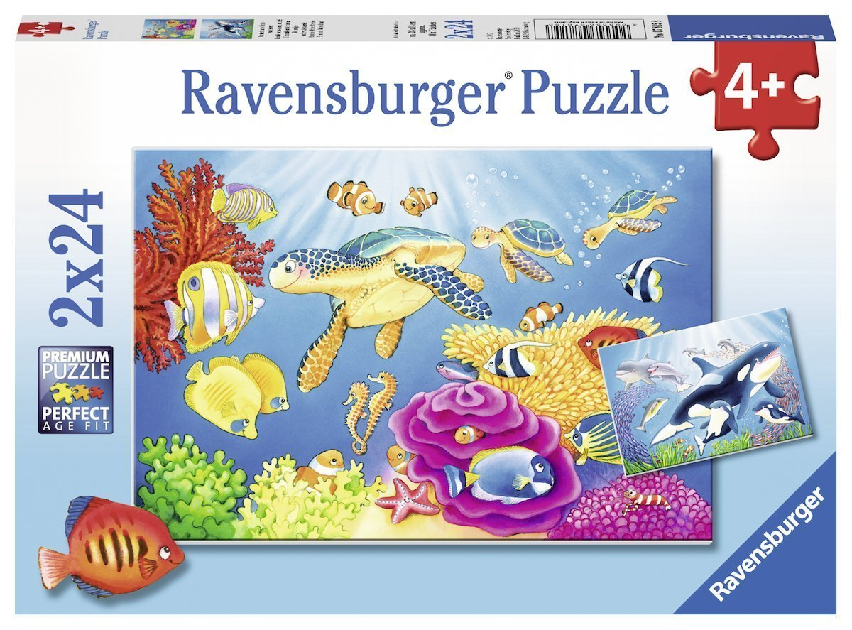 Ravensburger Puzzle Colourful Underwater 2 x 24 Pieces