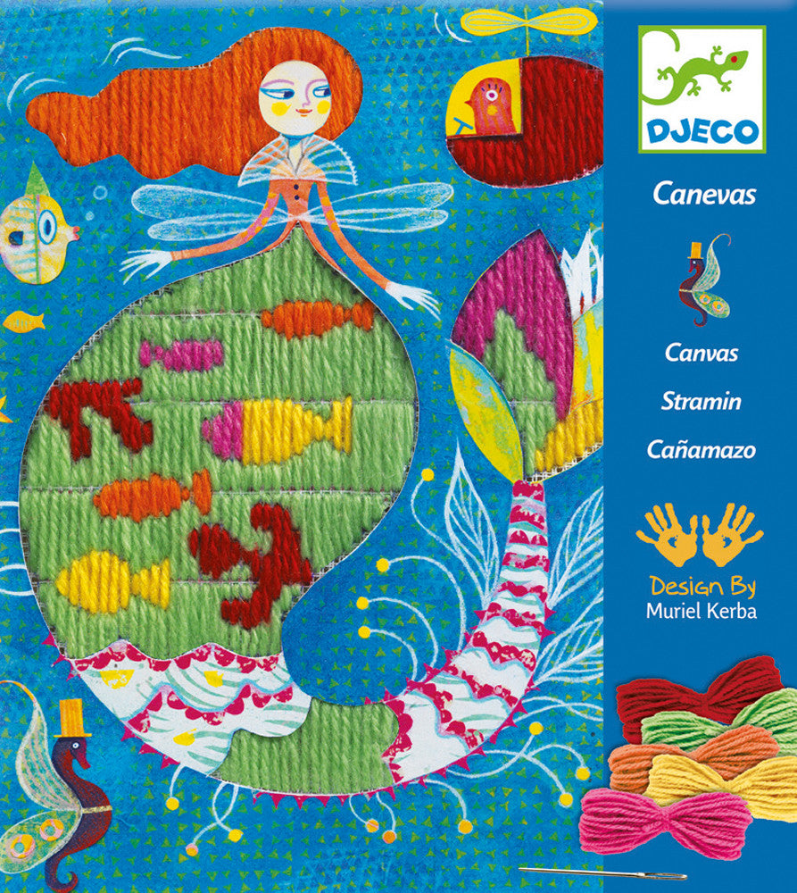 Djeco Embroidery Mermaid at Little Sprout