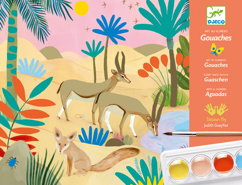 Djeco DJ8965 Gouaches Painting Workshop Natural World