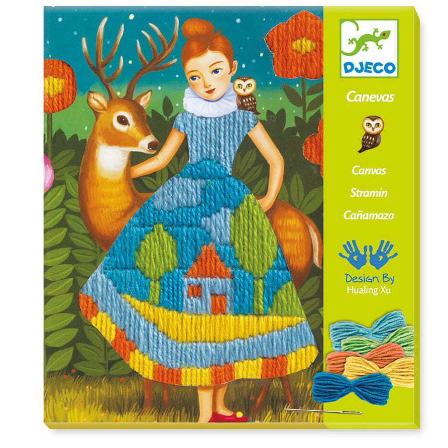 Djeco Embroidery Workshop Dress set at Little Sprout