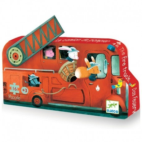 Djeco Firetruck Puzzle for 3 year olds
