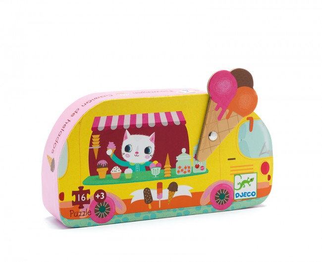 Djeco Ice Cream Truck 16 piece puzzle at Little Sprout