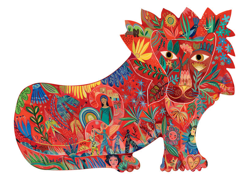 Djeco Puzzle Art Lion at Little Sprout