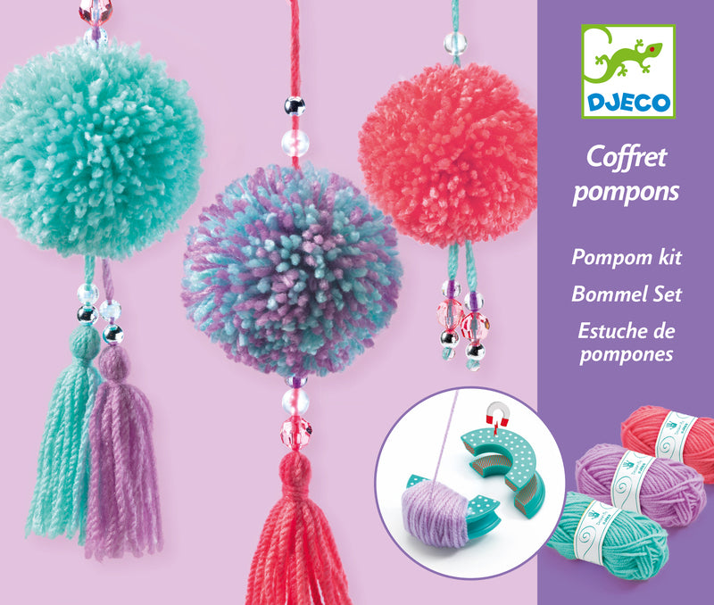 Djeco Wool Pendant Pompom kit at Little Sprout