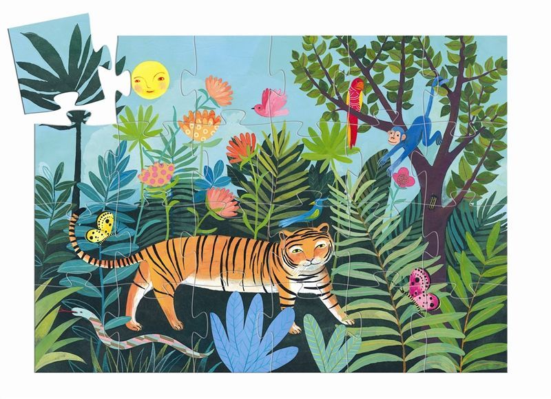 Djeco Tigers Walk Puzzle 24 piece available at Little Sprout