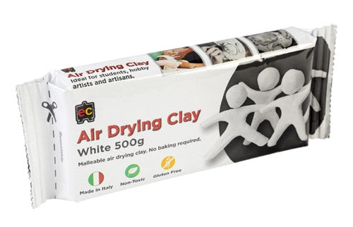 Educational Colours White Air Drying Clay 500g