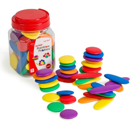 Edx Junior Rainbow Pebbles set of 36