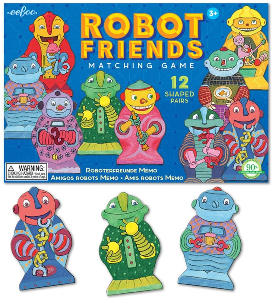 eeBoo Robot Friends Matching Game
