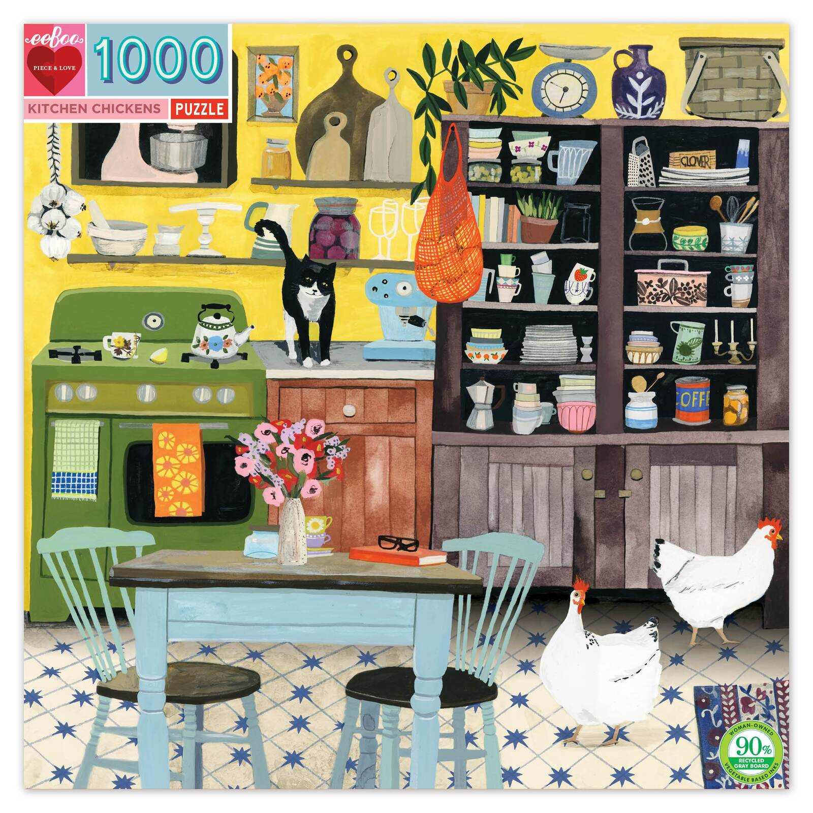 eeBoo Kitchen Chickens 1000 Piece Puzzle at Little Sprout