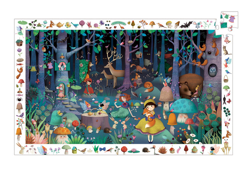 Djeco - Observation Puzzle Enchanted Forest 100 Pc