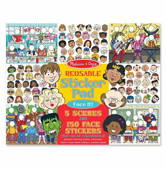 Melissa And Doug - Reusable Sticker Pad Face It