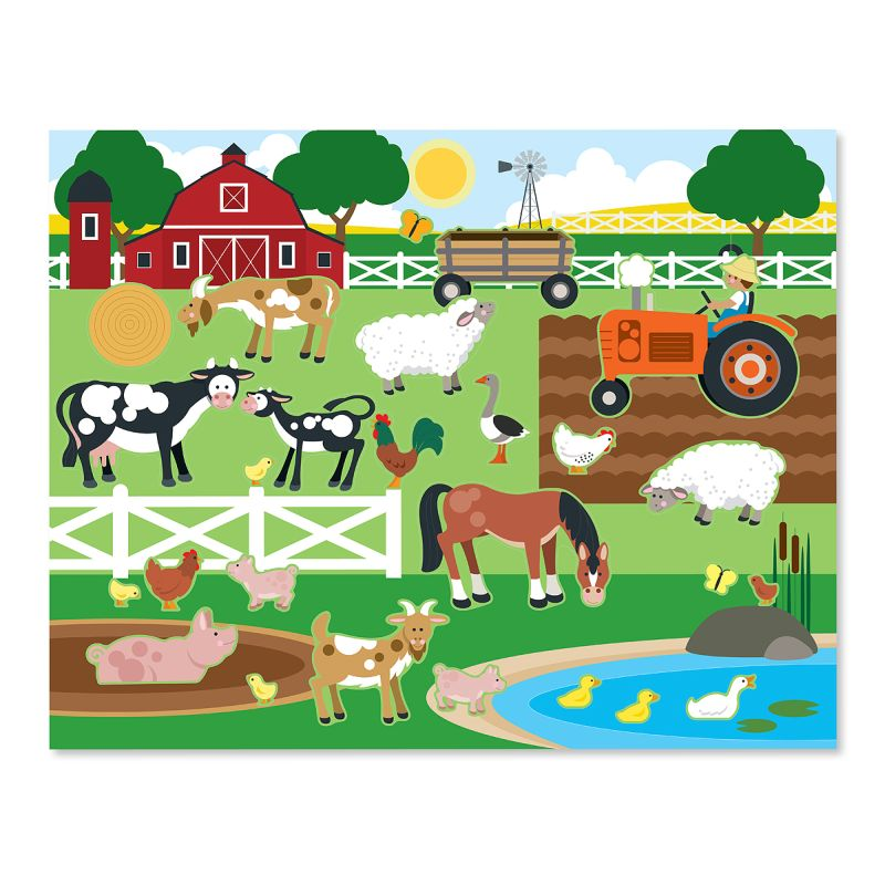 Melissa And Doug - Reusable Sticker Pad Farm