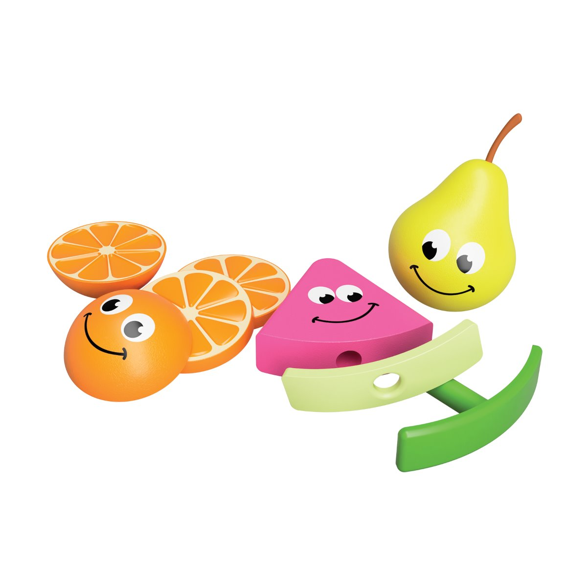 Fat Brain Toys Fruit Friends Watermelon, Pear and Orange