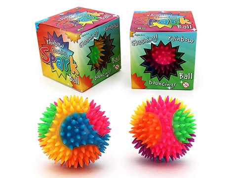 Rainbow Flashing Spike Ball