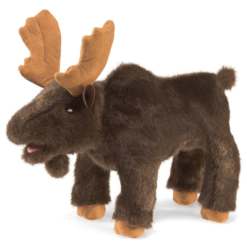 Folkmanis Small Moose hand puppet at Little Sprout