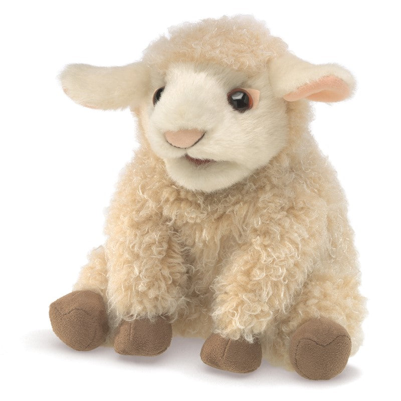 Folkmanis Small Lamb Puppet in field