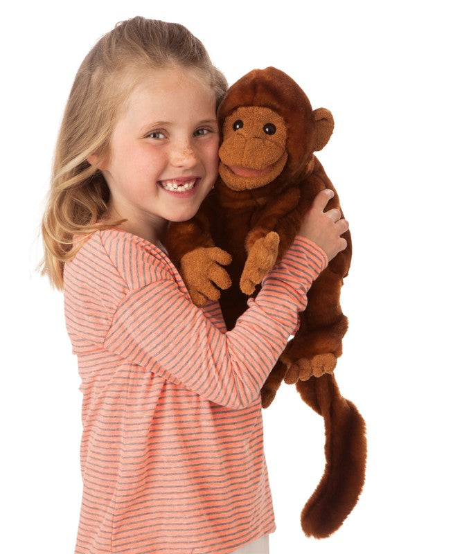 Folkmanis Classic Monkey hand puppet at Little Sprout