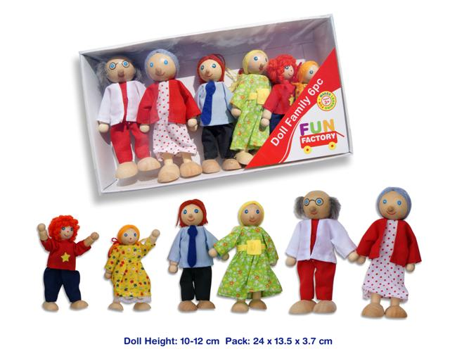 Fun Factory 6 piece Wooden Family