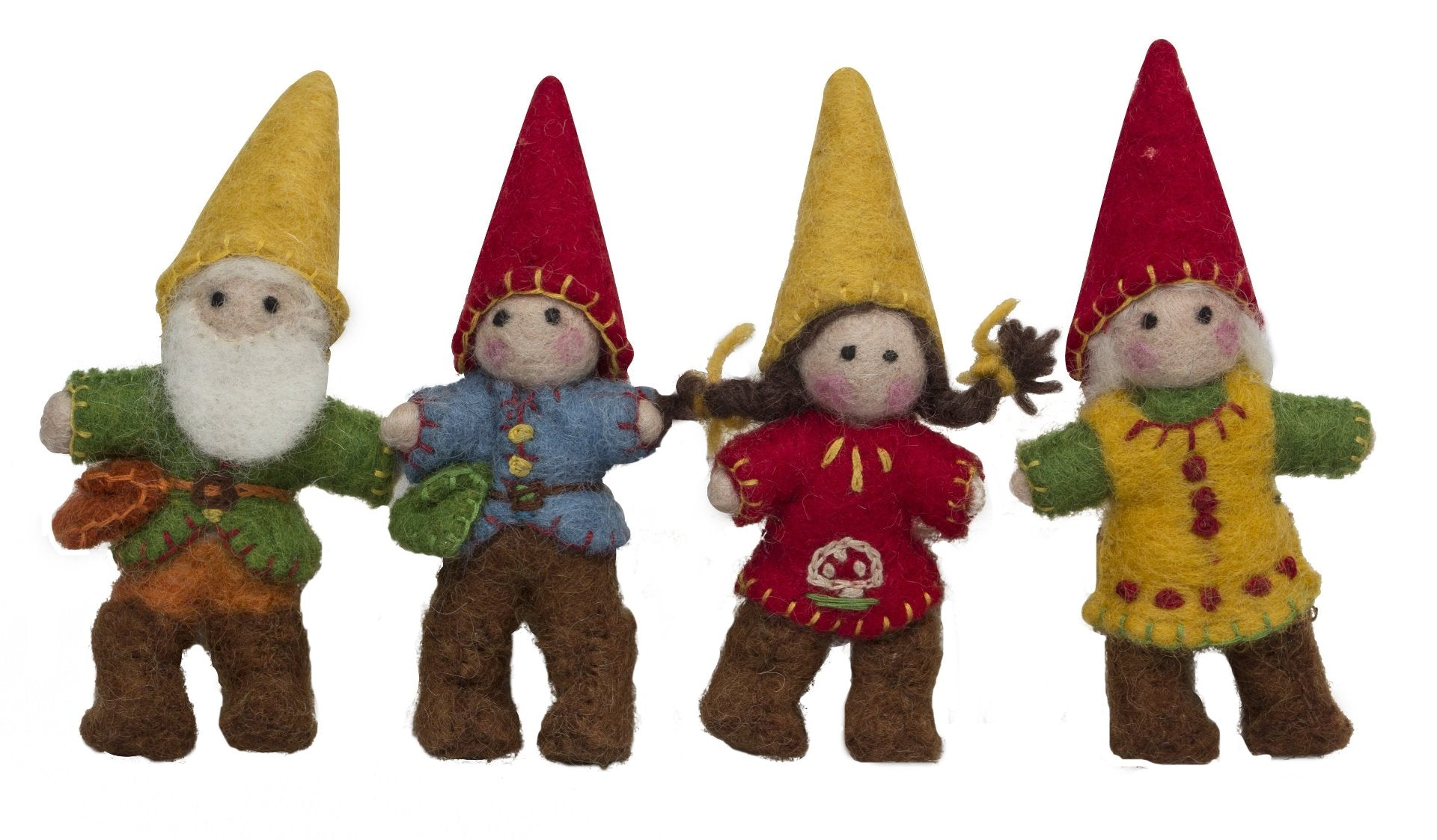 Papoose Felt Gnome Family set of 4 at Little Sprout