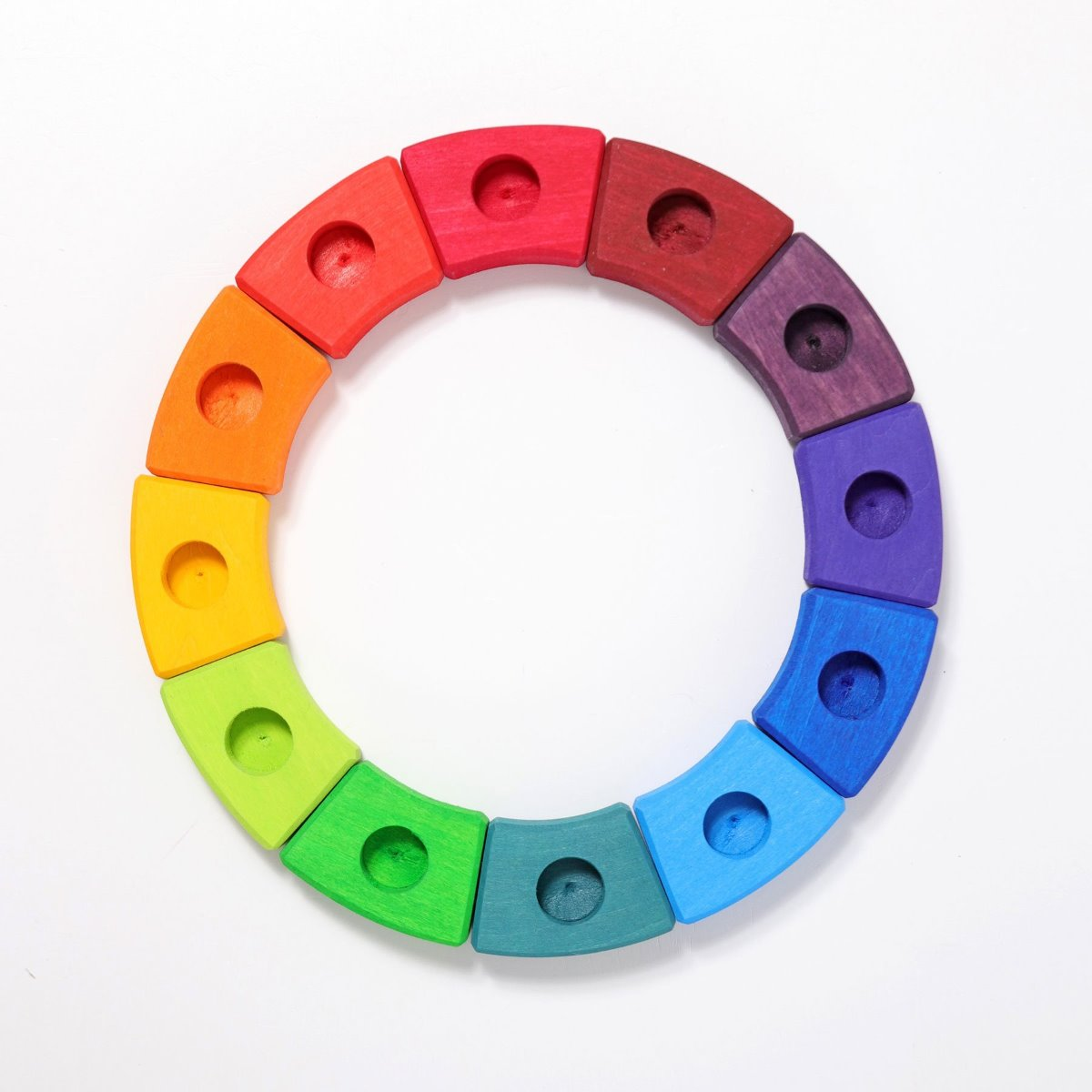 Grimms Wooden Rainbow Birthday Ring 12 Pieces