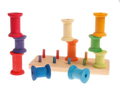 Grimms large rainbow bobbin set at Little Sprout