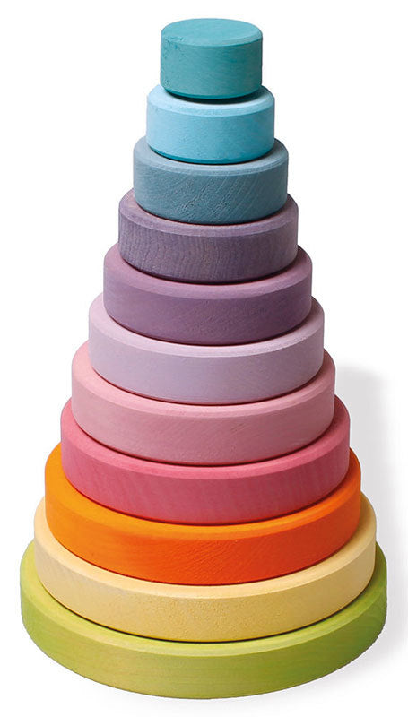 Grimms Large Stacking Conical Tower Pastel at Little Sprout