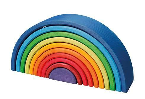 Grimms New Wooden Rainbow Large Sunset