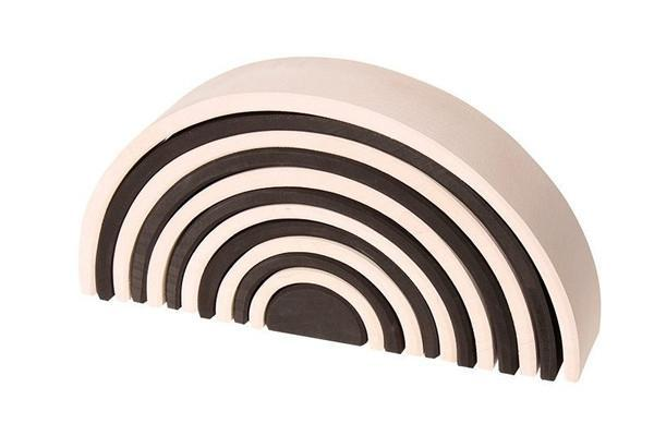 Grimms Large Monochrome Wooden Toy Tunnel available at Little Sprout