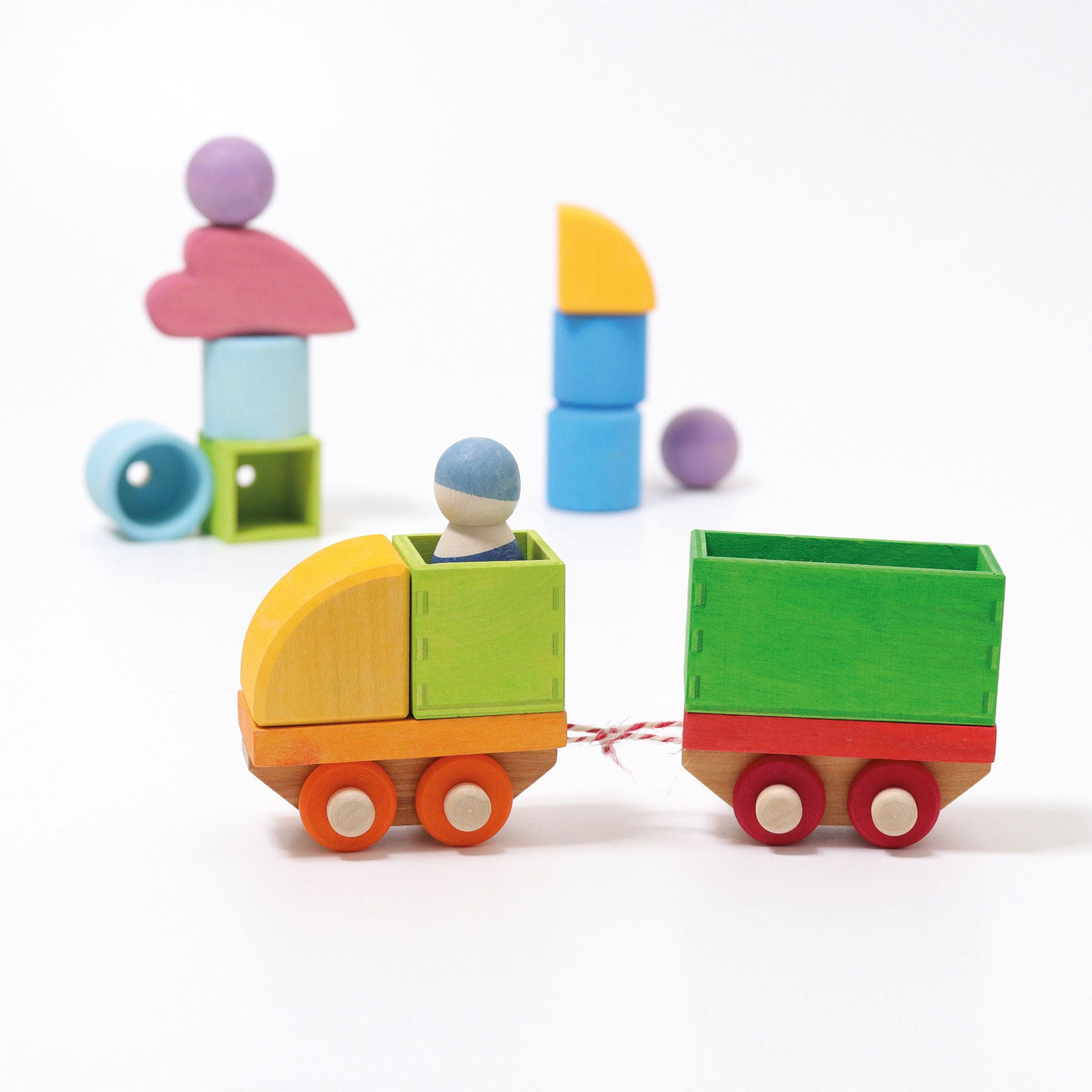 Grimms Wooden Train Building Set at Little Sprout