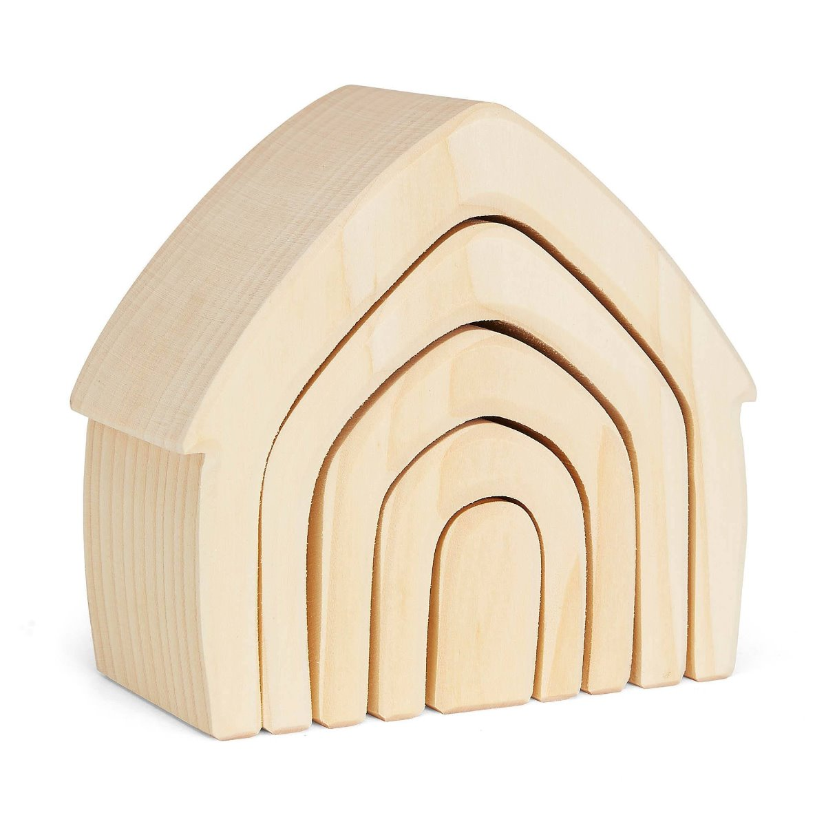 Grimms Wooden Natural stacking House at Little Sprout