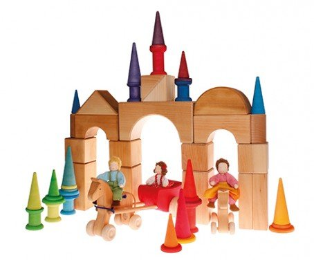 Grimms Giant Natural Building Blocks 19 Pc