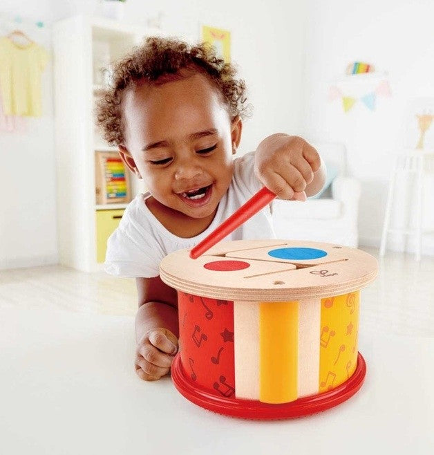 Hape Double-Sided Drum Musical Set at Little Sprout