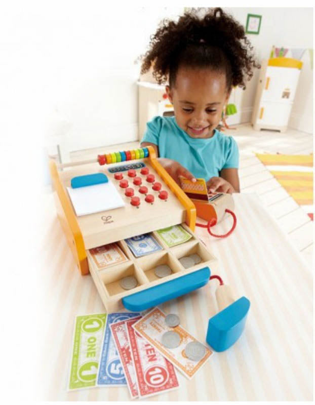 Hape Checkout Cash Register available at Little Sprout
