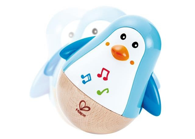 Hape Musical Penguin Wobbler available at Little Sprout