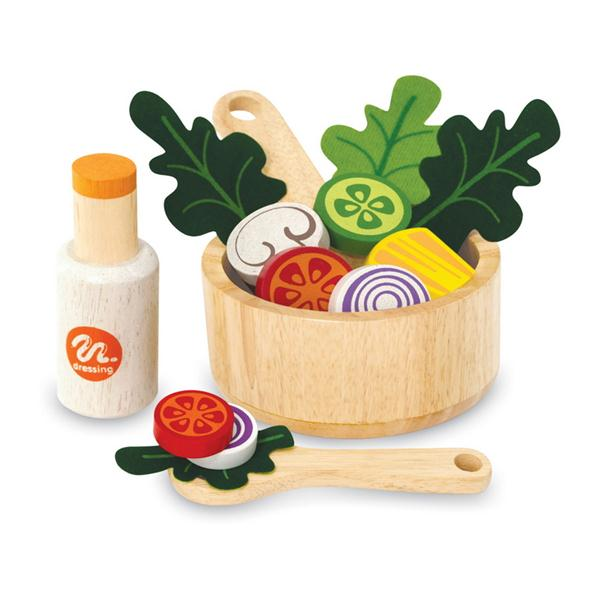 I'm Toy Wooden Salad Set