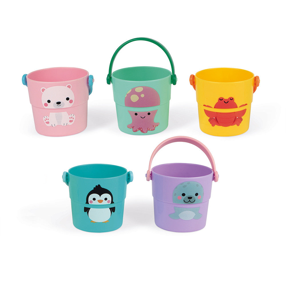 Janod 5 Bath Activity Buckets